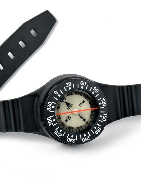 Compass with wristband